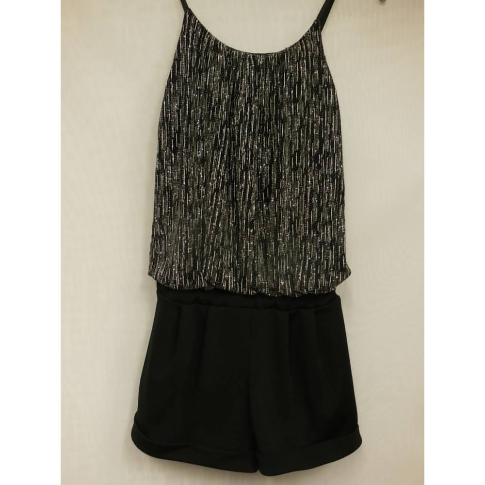 1cbbcd6f06ac Quiz Jumpsuit Black and Silver