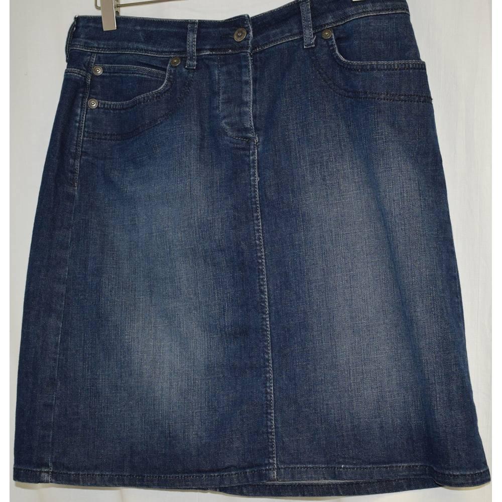 8e32b3ceb8 M and S Denim skirt size 12 M&S Marks & Spencer - Size: 12 -. Loading zoom