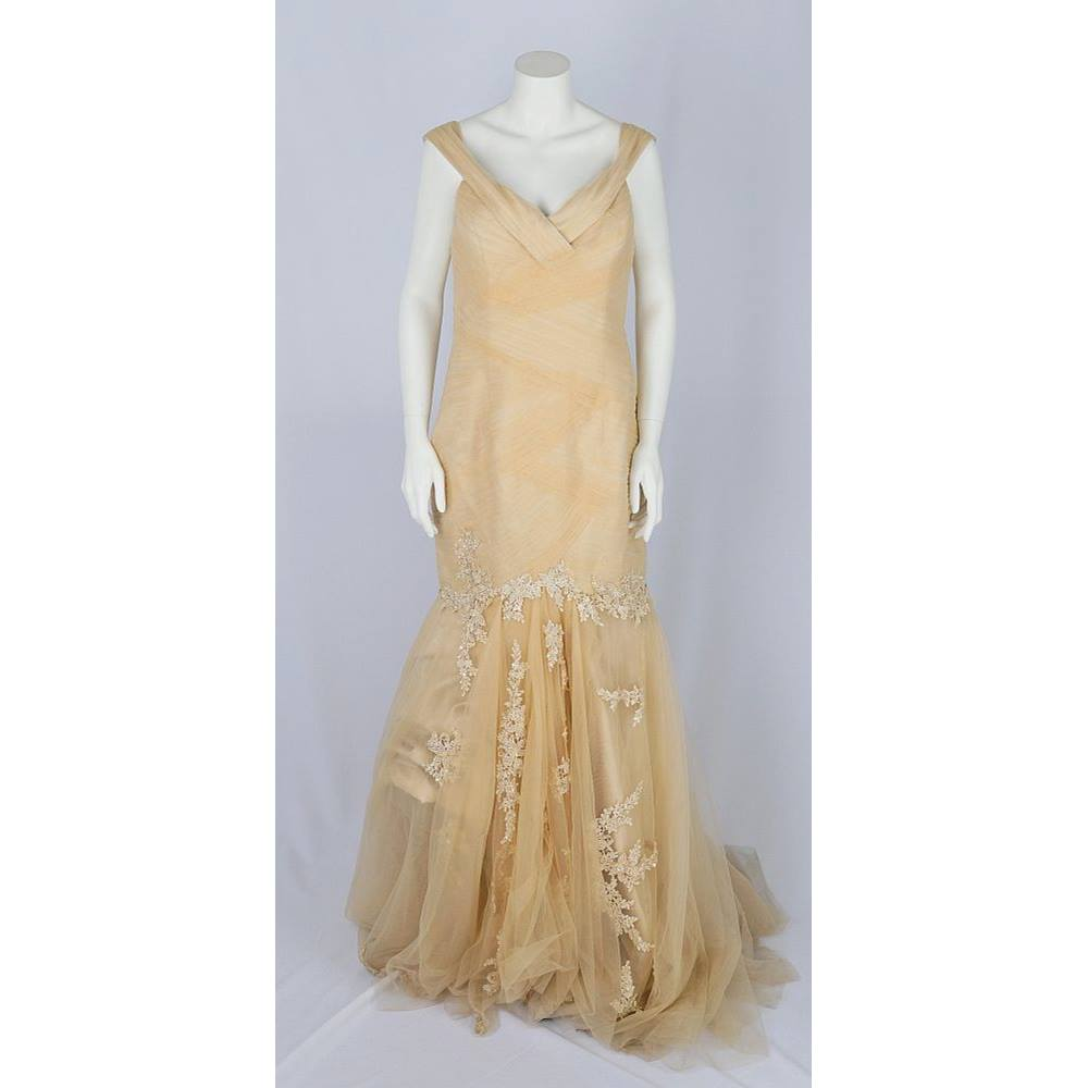 Beige Ball Gown Size Uk 16 Unbranded Size 16 Beige Full