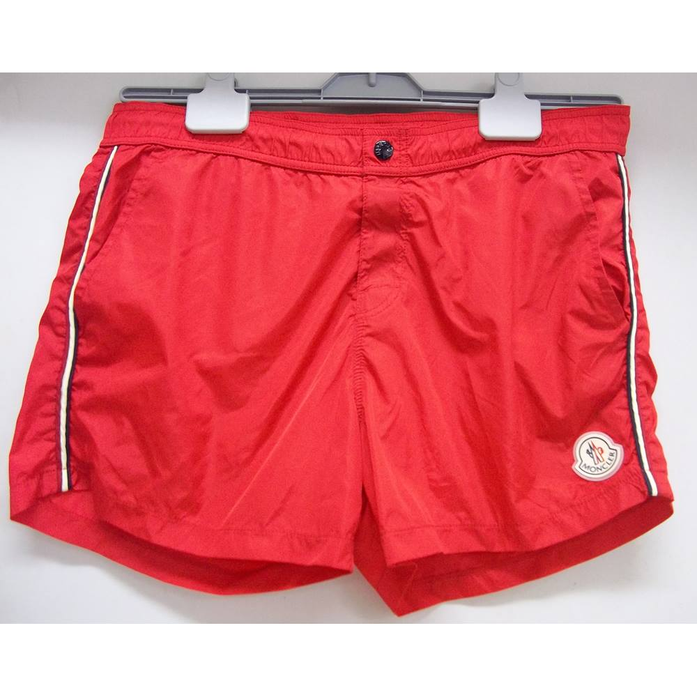 366952b88 MONCLER - Size: Large - Red - Swimming shorts | Oxfam GB ...