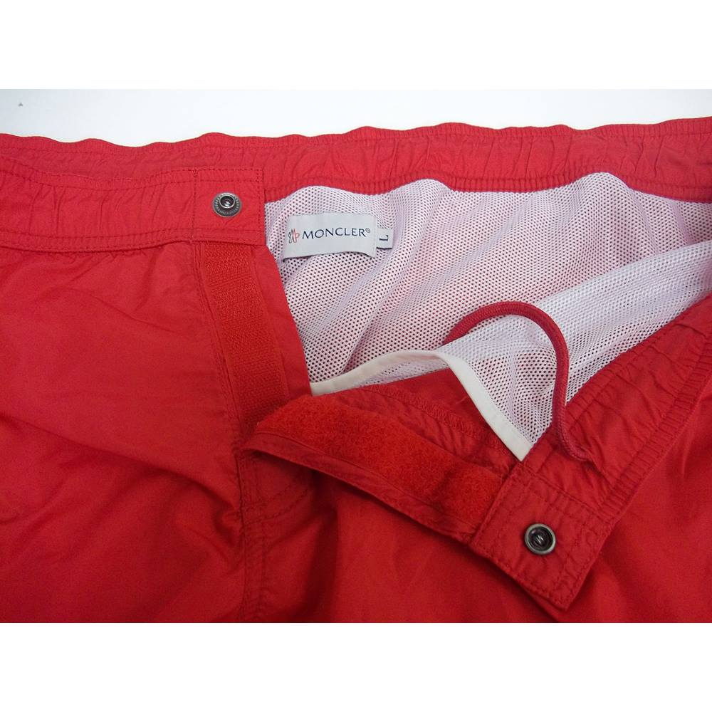 851b98d6dcddc MONCLER - Size: Large - Red - Swimming shorts | Oxfam GB | Oxfam's ...