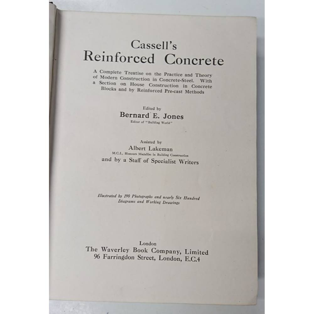 Preview of the first image of Cassell's Reinforced Concrete.