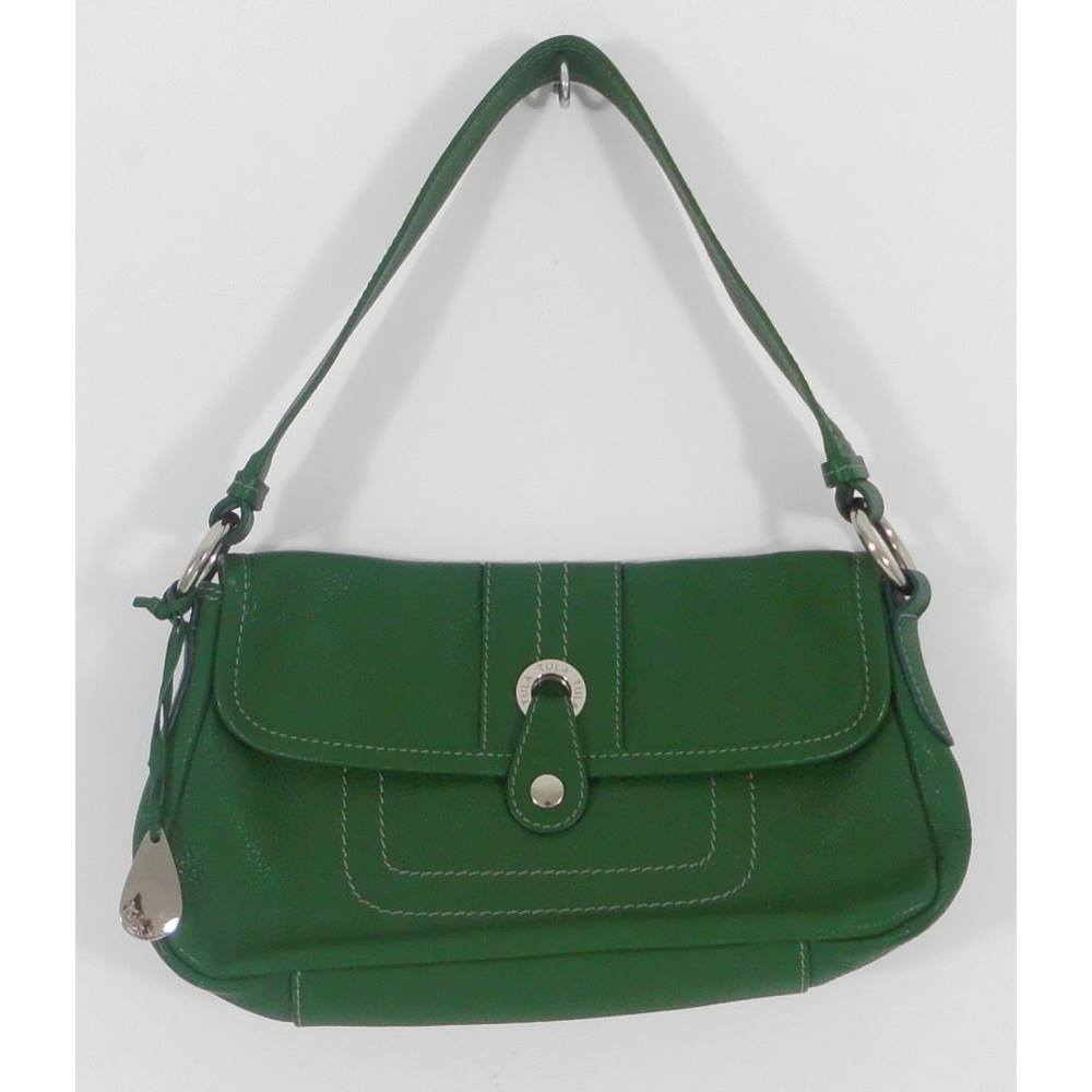 Tula Green Leather Shoulder Bag. Loading zoom
