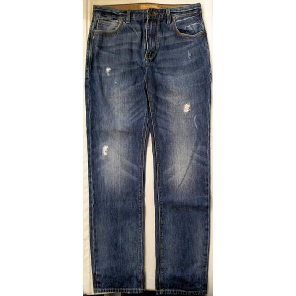 aca947f0093d6 Next Straight Fit Blue Denim Jeans Next - Size  32