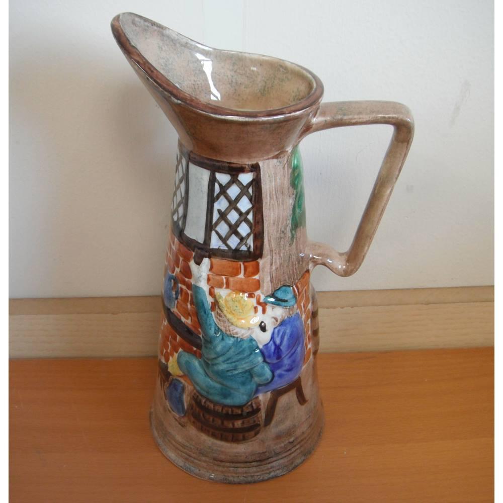 H J Wood Ltd Burslem England - Hand Painted Pottery Pitcher/Jug | Oxfam GB  | Oxfam's Online Shop