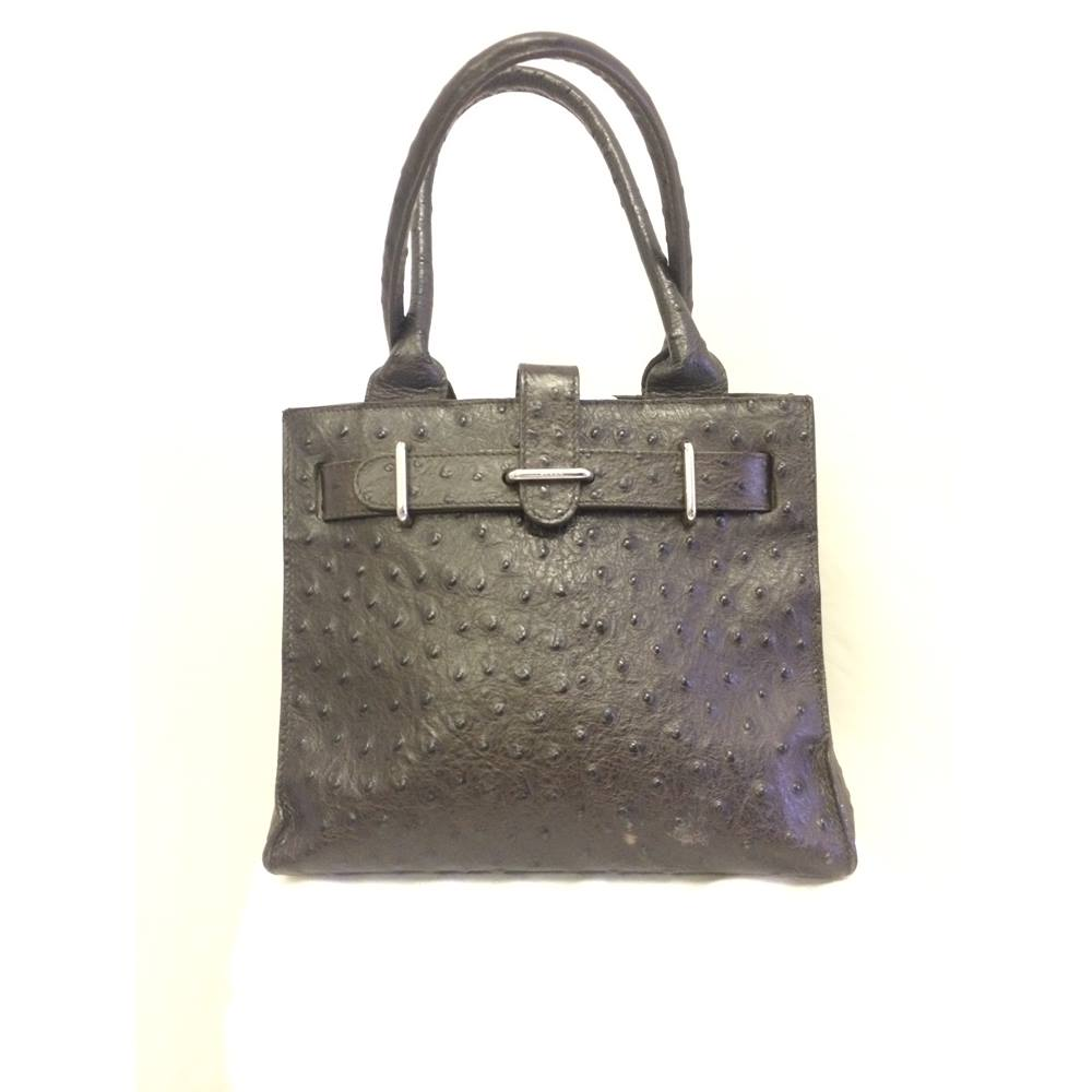 Birkin Local Classifieds Preloved Furla Agatha Oxfam Shop Harrogate Lovely Mini Tote Min Style Real Leather With Ostrich Effect Finish Fully Lined And Studs To Base