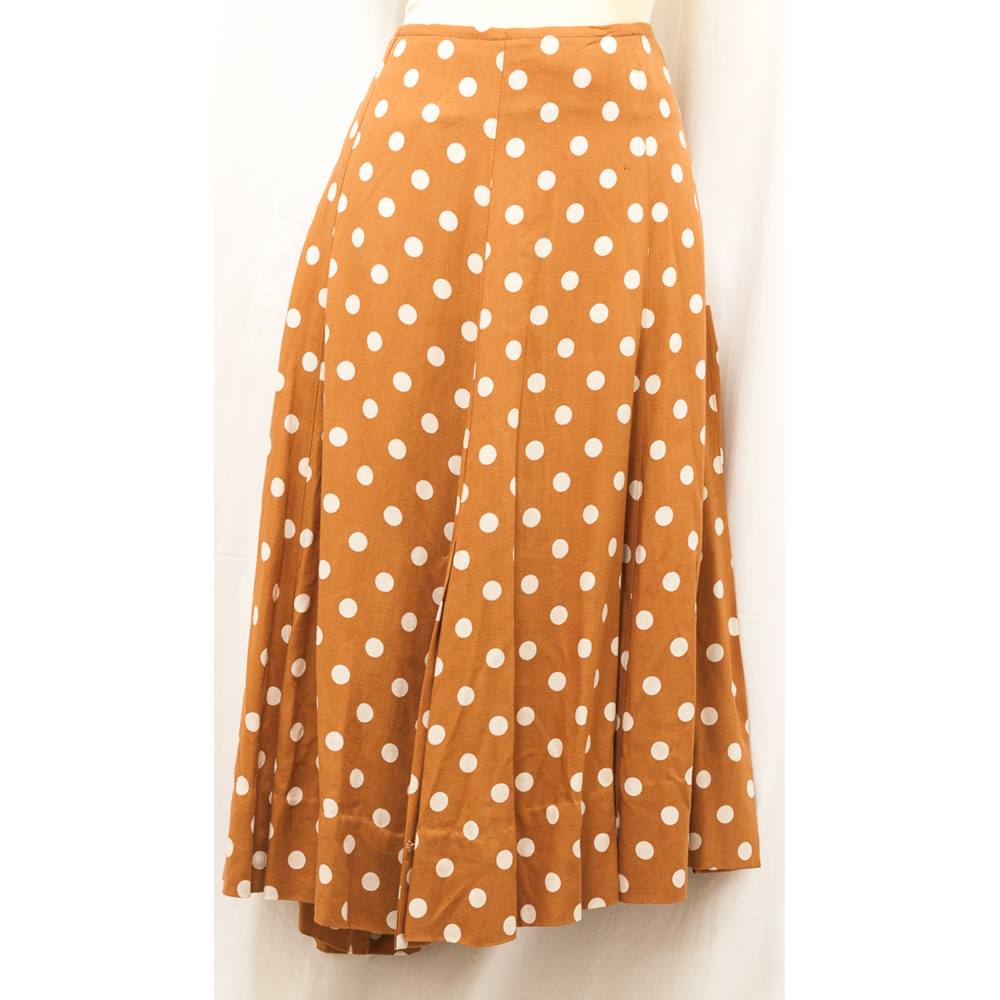 Austin Reed Size 12 Brown And Beige Spots Skirt Oxfam Gb Oxfam S Online Shop