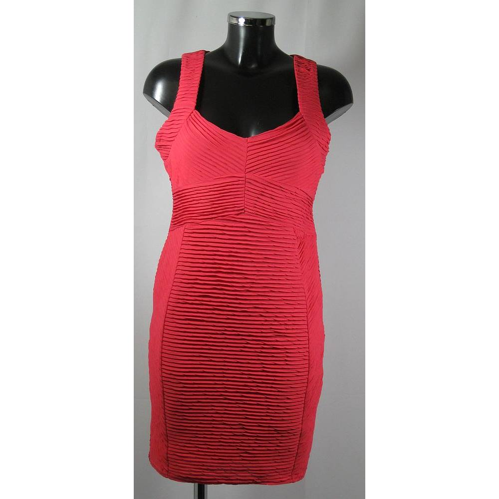 Bnwt Jane Norman Dress Deep Pink Size 14