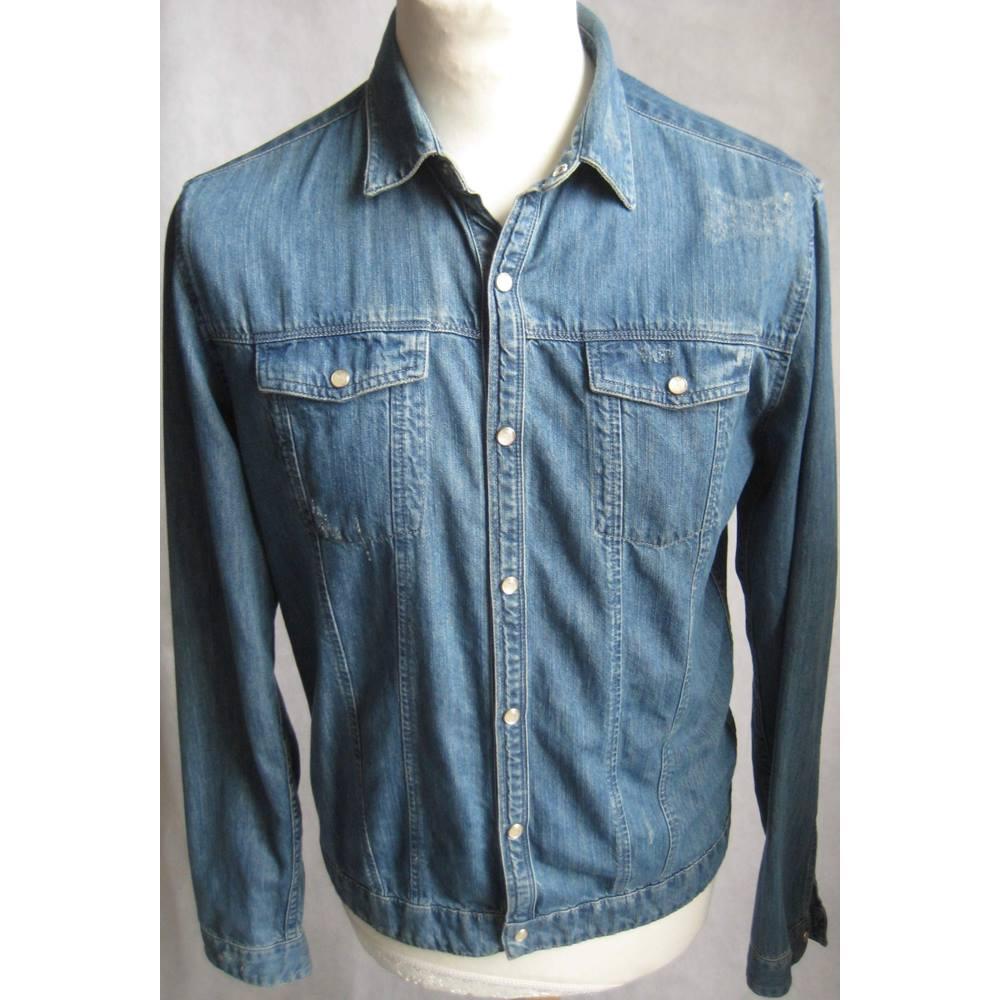 24cd82fc6d The Kooples Adjusted blue denim shirt size M The Kooples - Size  M - Blue
