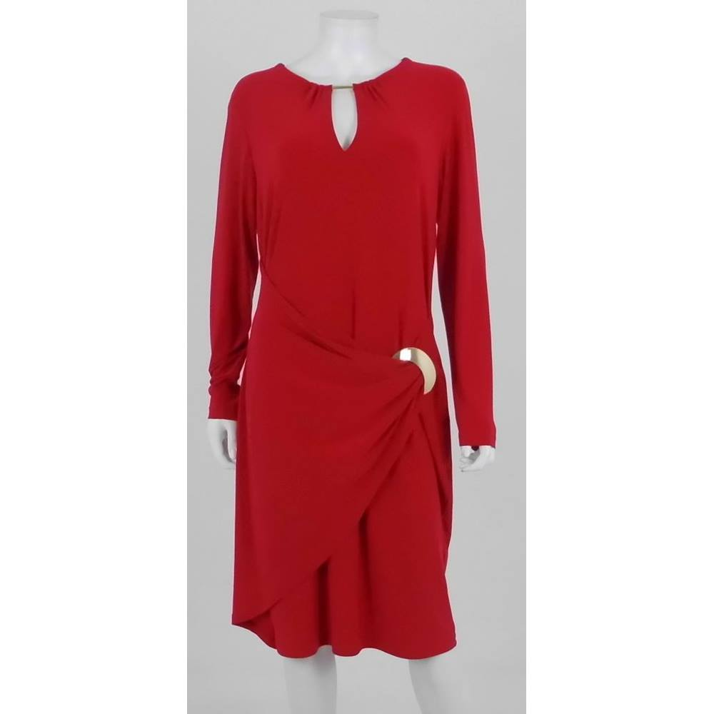 Joseph Ribkoff Size 16 Post Box Red Evening Dress | Oxfam GB ...