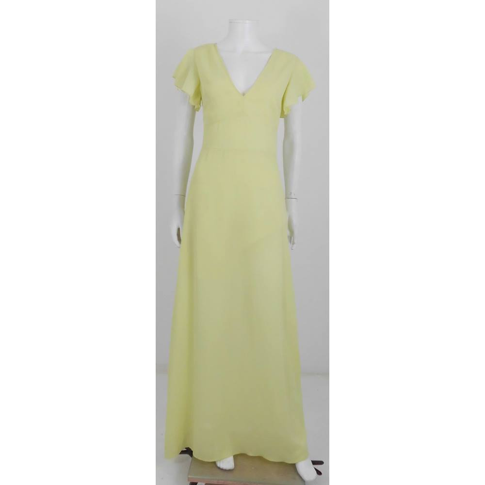 1692ffea79c BNWT Pretty Little Thing   ASOS Lemon Maxi Dress Size 8