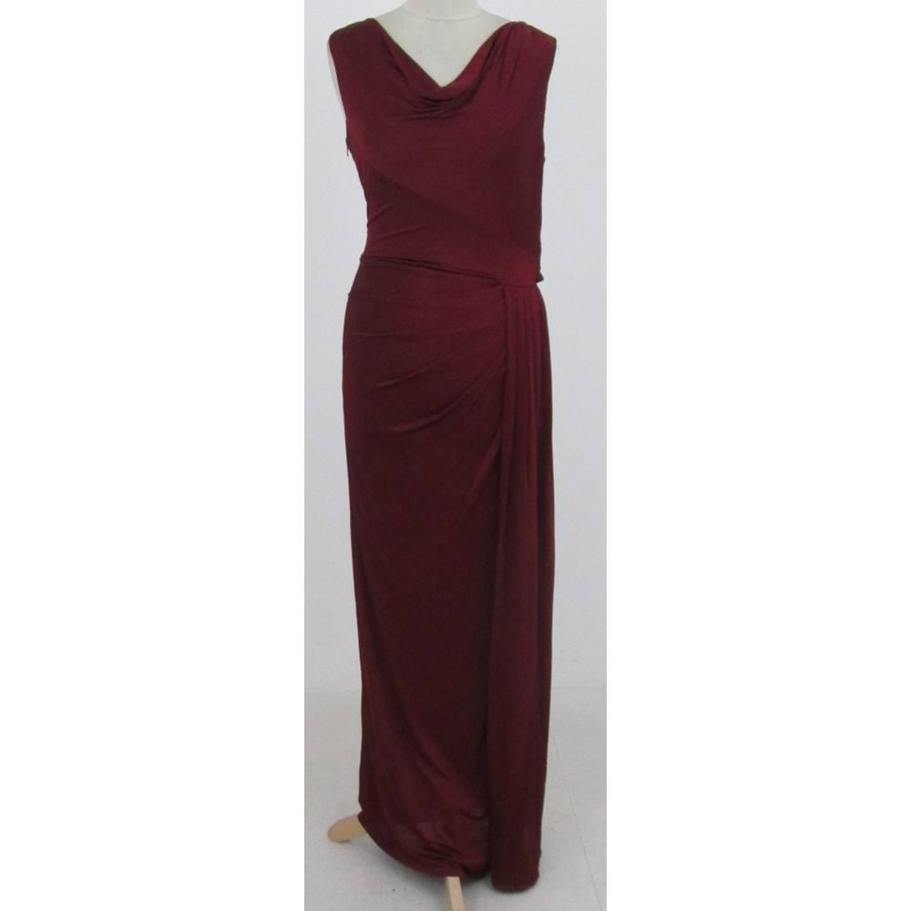 Phase Eight Size:10 burgundy evening dress | Oxfam GB | Oxfam\'s ...