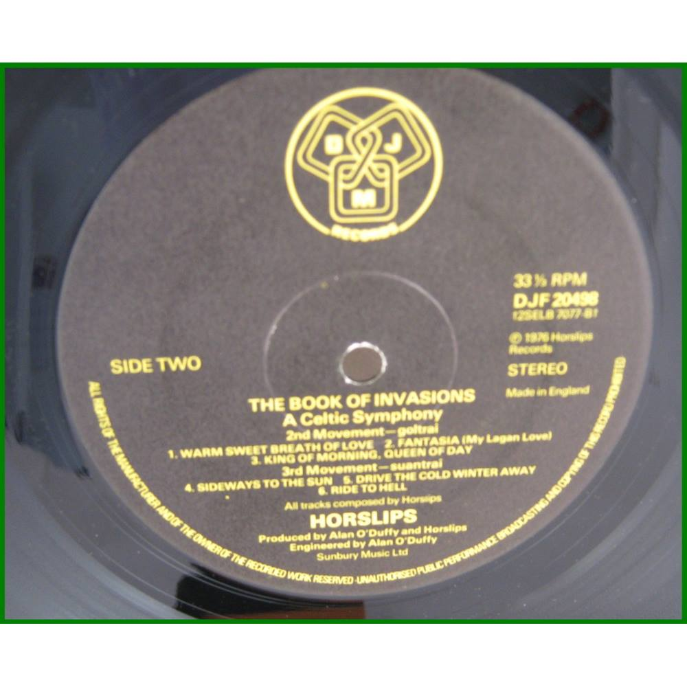 Horslips – The Book Of Invasions  A Celtic Symphony - DJF 20498   Oxfam GB    Oxfam's Online Shop
