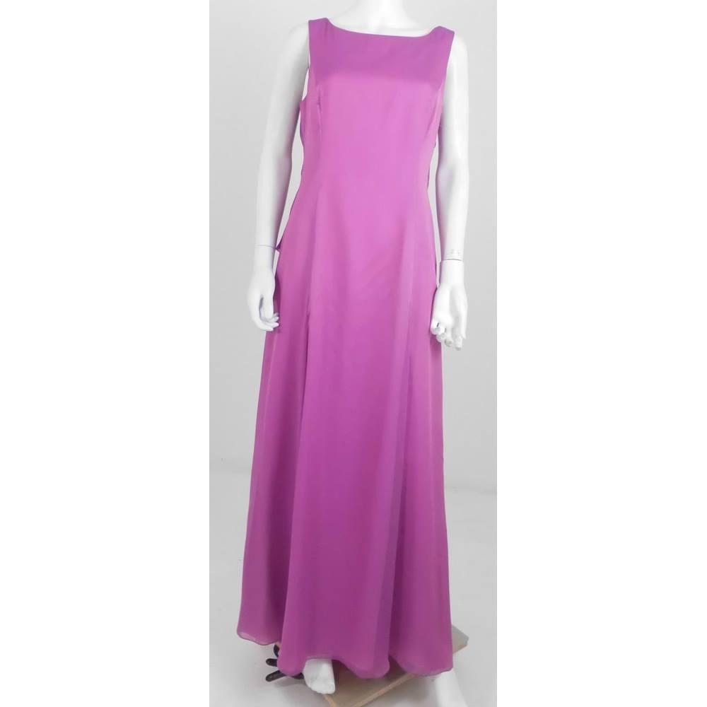 BNWT Prenom by Ronald Joyce Size 16 Pale Fuchsia Pink Full length ...