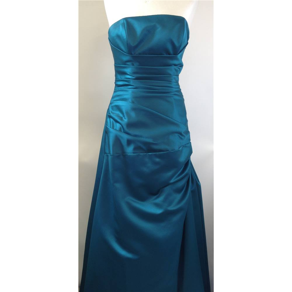 Perfection London Size 10 Turquoise blue prom dress   Oxfam GB ...