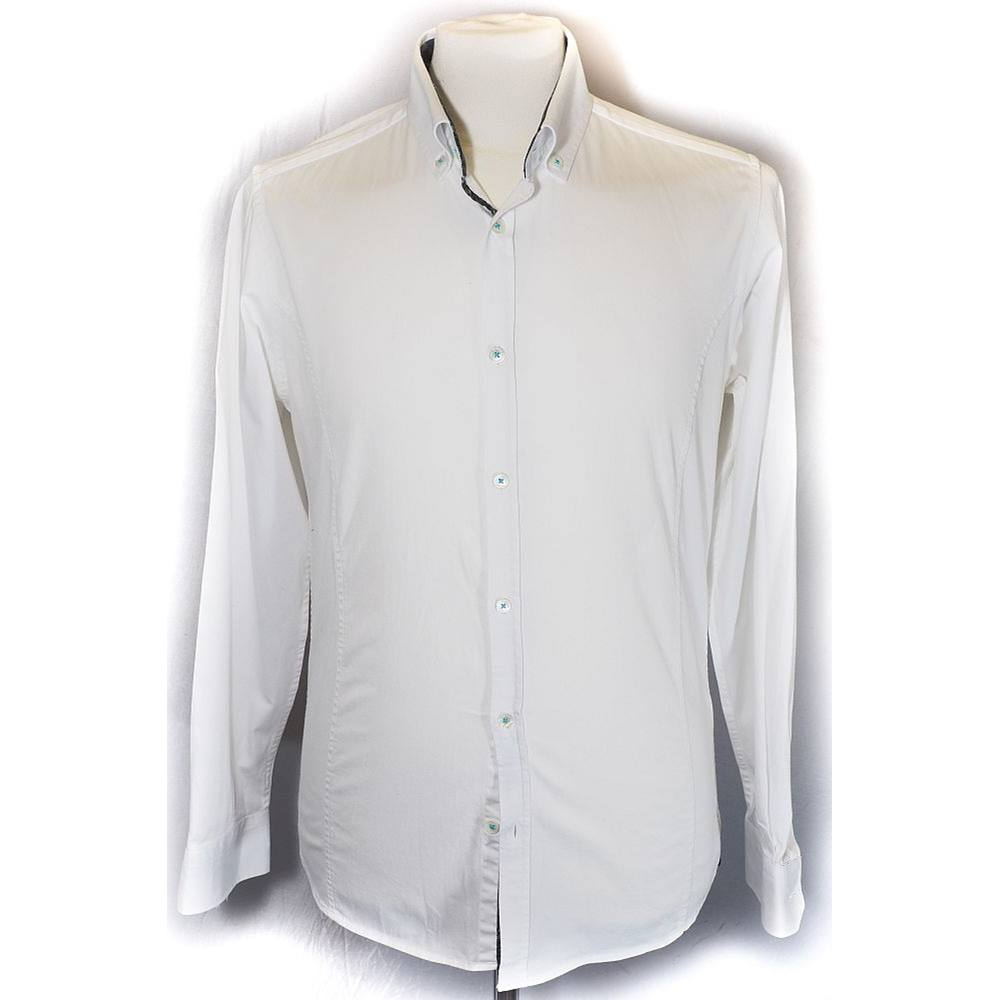 74a763979c298a TED BAKER JACQUARD SIZE 3 WHITE LONG SLEEVED SHIRT SIZE  S Ted Baker -  White. Loading zoom