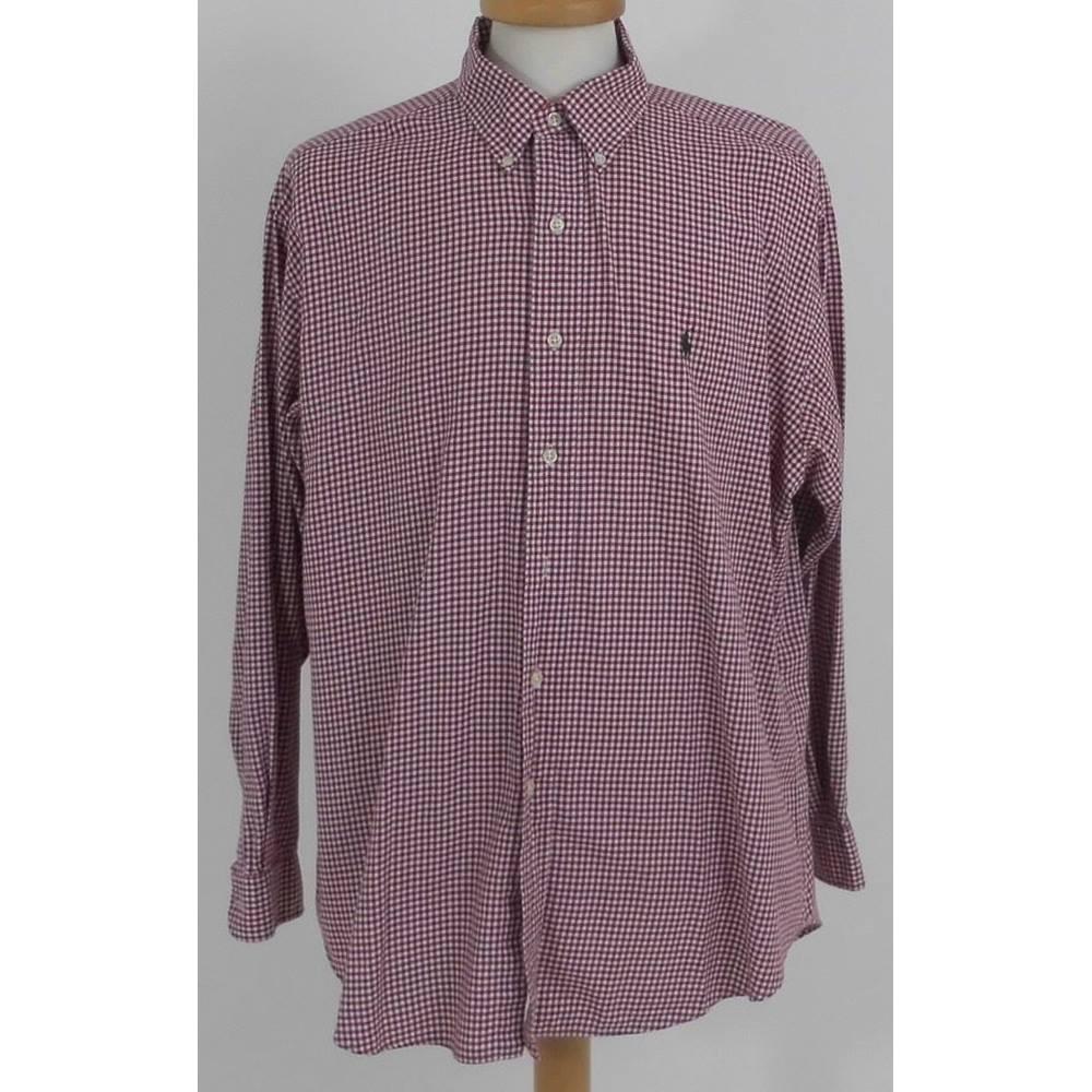 f1aaa0e5d9a6 Ralph Lauren Size: L Red / White Check Long sleeved Shirt | Oxfam ...