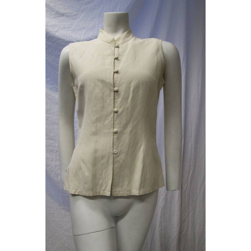 Art of Silk Size M Ivory Silk Top Art of Silk - Size: M - Cream ...