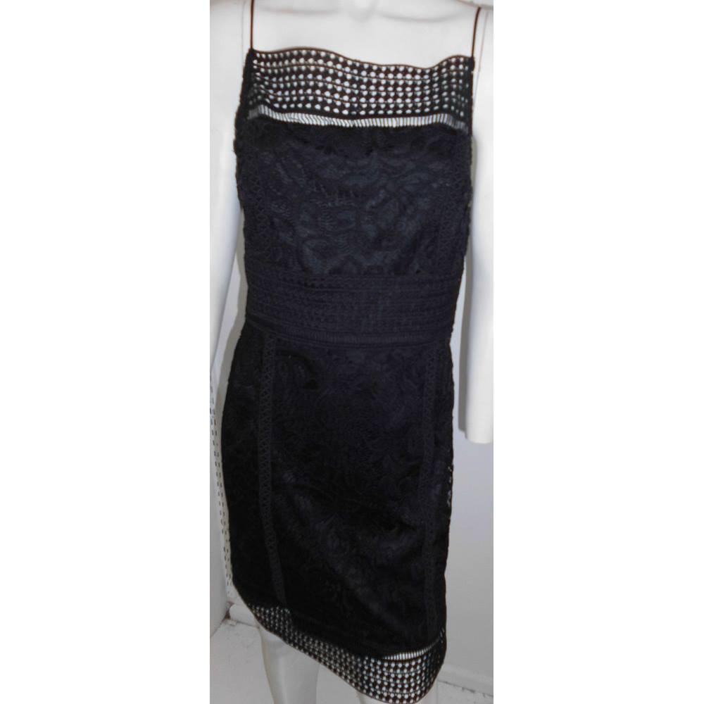 3ed2b15785a Topshop BNWT- Size  14 - Black Lace- Mini dress