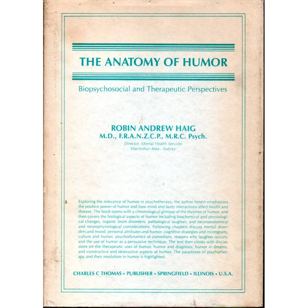 The Anatomy Of Humor Biopsychosocial And Therapeutic Perspectives