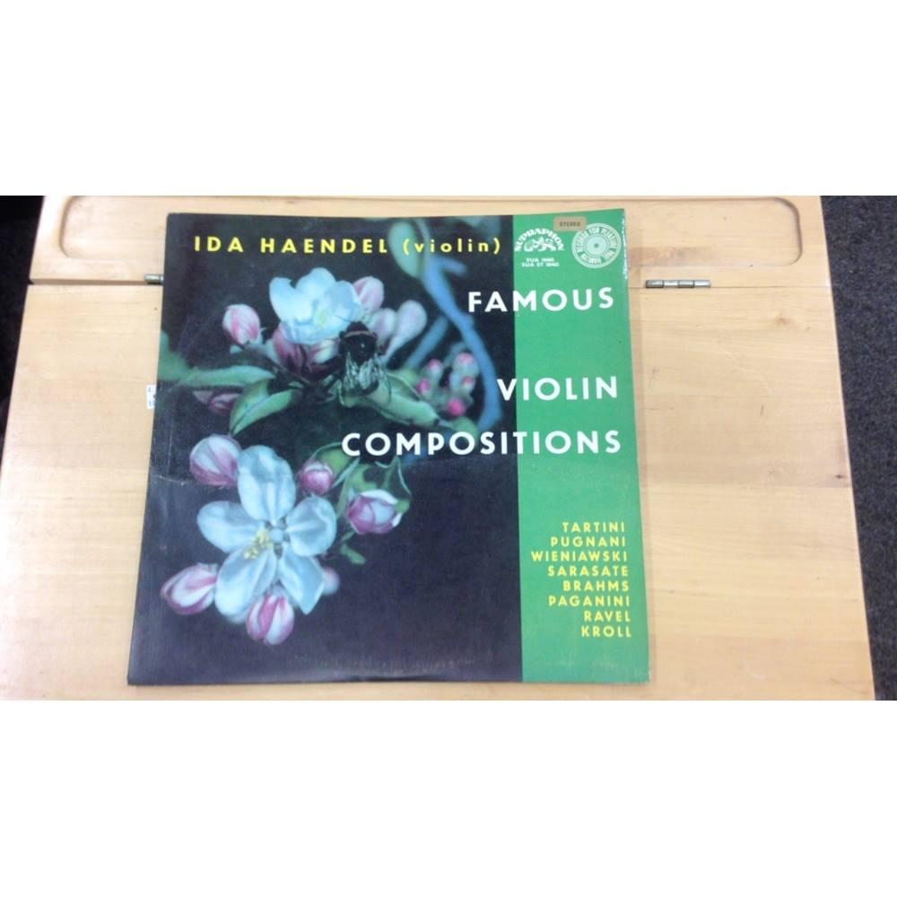 Ida Haendel Famous Violin Compositions Vinyl   Oxfam GB   Oxfam's Online  Shop