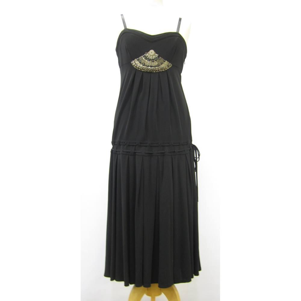 21b07025558 Karen Millen Dress Size 12 KAREN MIILEN - Size: 12 - Black   Oxfam ...