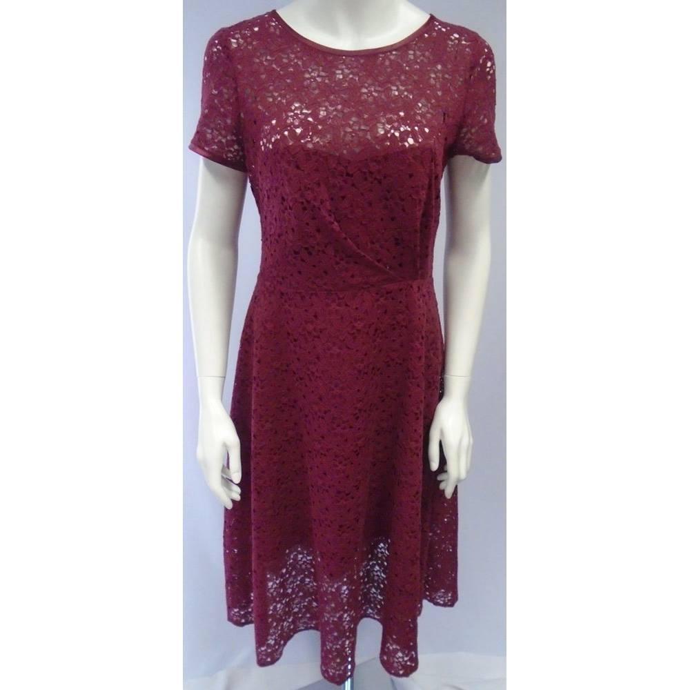 d1e0c4954915 ASOS - Mulberry Lace Midi Dress - Size 12 | Oxfam GB | Oxfam's ...
