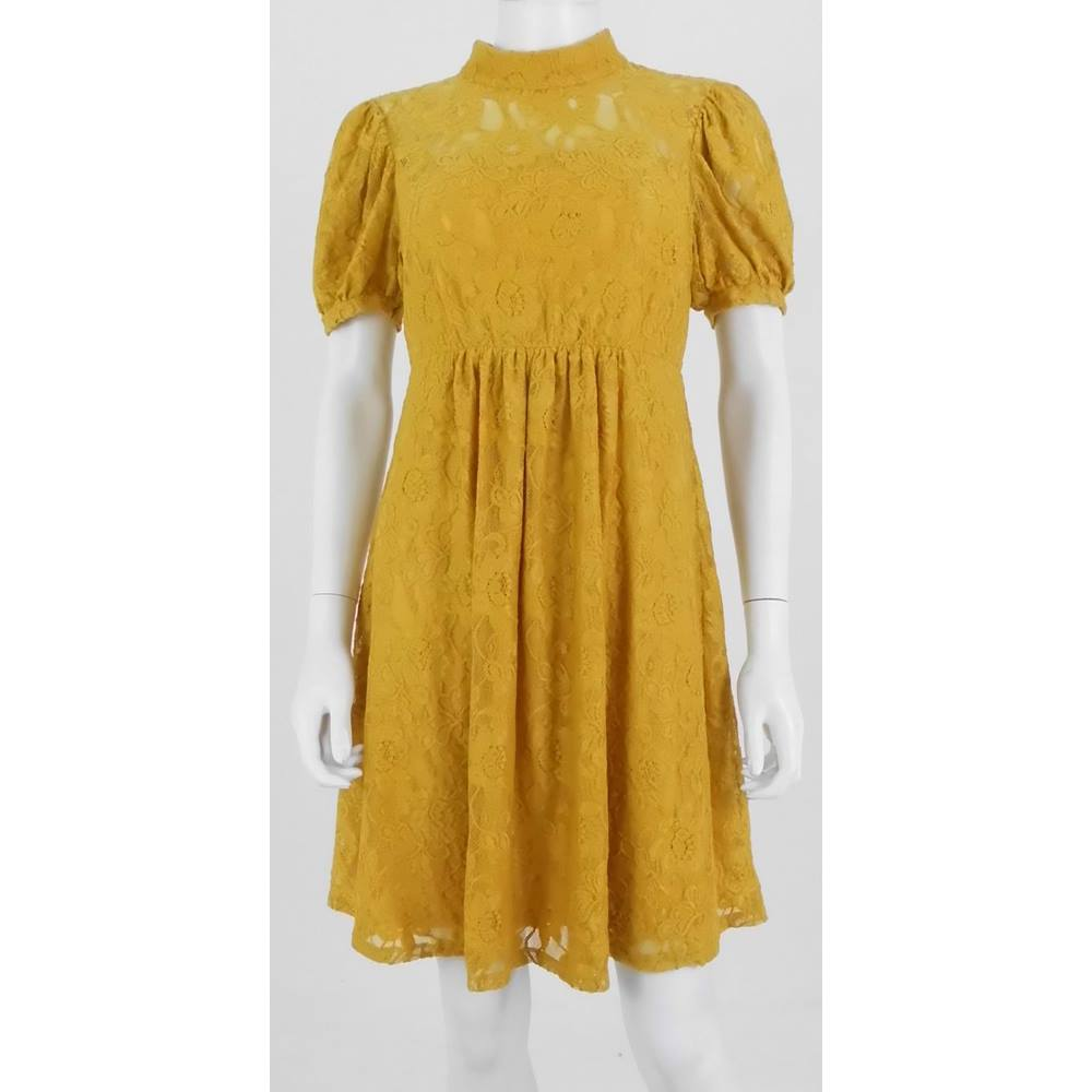 e0bda477a4b91f BNWT ASOS Size: 10 Mustard Yellow Calf length Dress | Oxfam GB ...