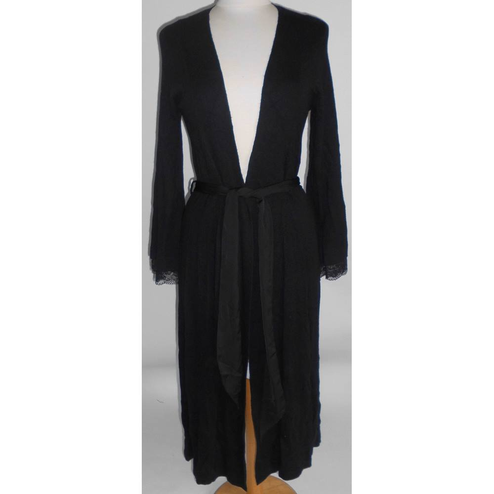 M&S Rosie for Autograph Black With Cashmere Dressing Gown Sleepwear ...