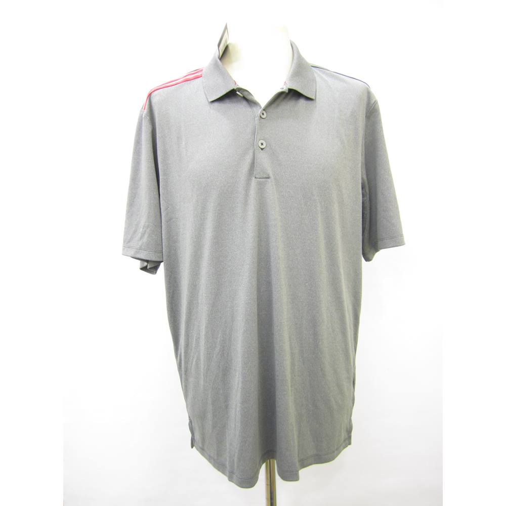 52a81613b0 Adidas men's grey polo shirt | Oxfam GB | Oxfam's Online Shop
