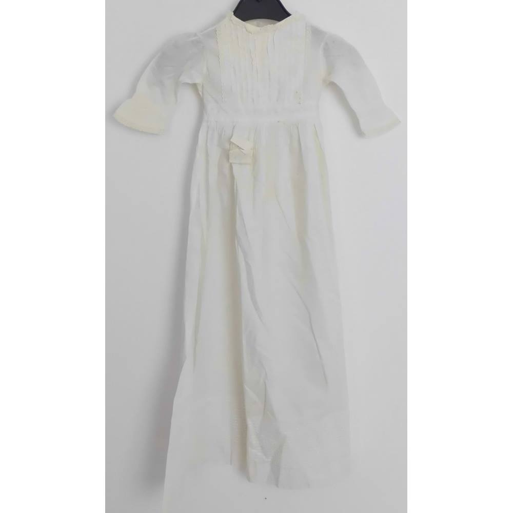 4ff676213bc7 Unbranded S Cream   ivory Vintage 1900 s Baby Christening Gown ...