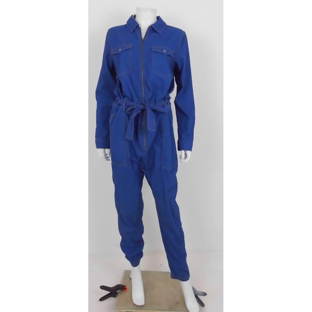 814ea70859a Topshop MOTO Size  12 Blue - Boiler suit