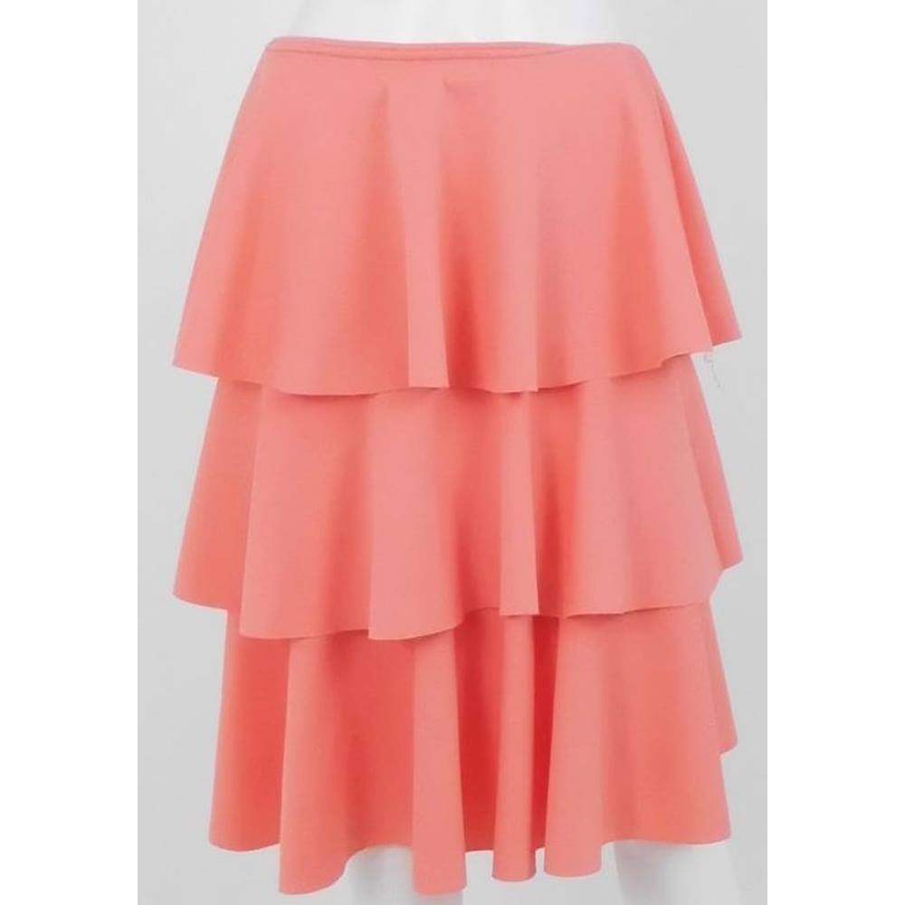 21883001fea7 ASOS Peach Knee-Length Tierred Skirt UK Size 8 / Euro Size 36 ...