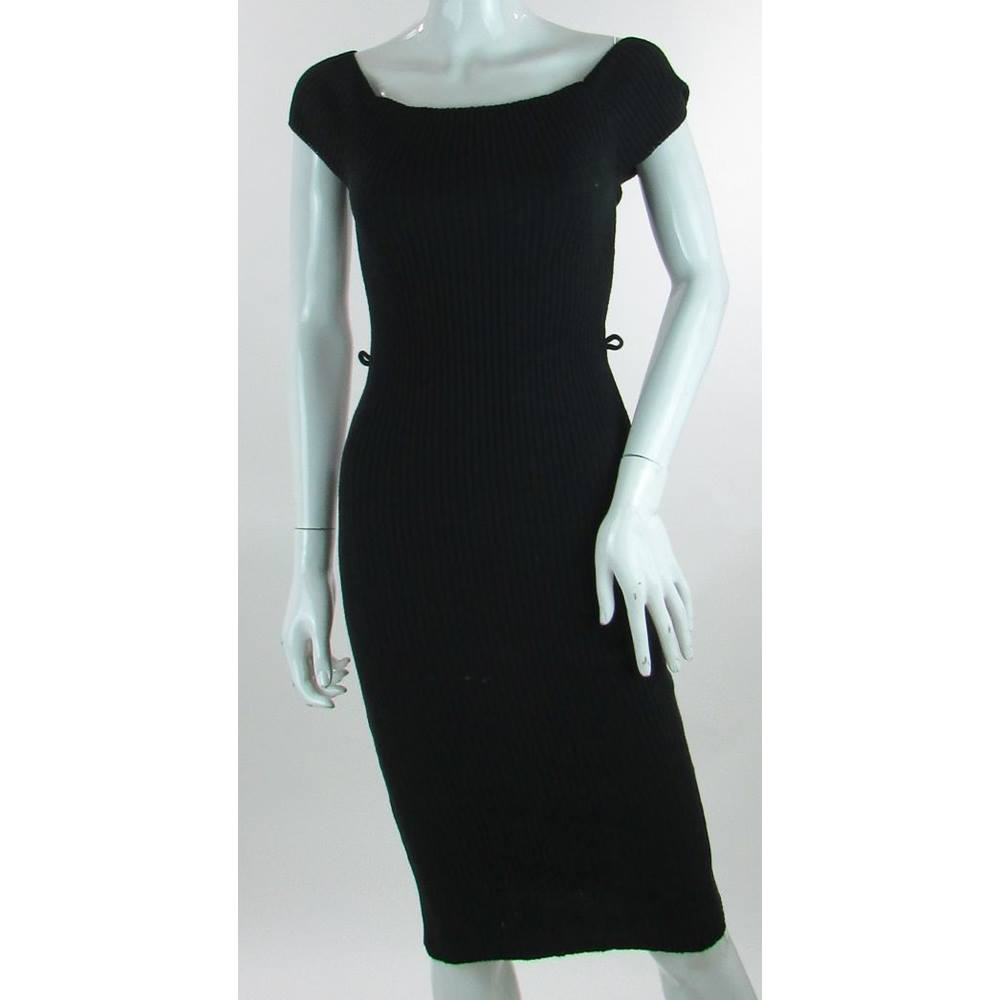 2b1ef6020d40 BNWT - Lipsy London - Size  10 - Black - Michelle Keegan Rib Bardot dress