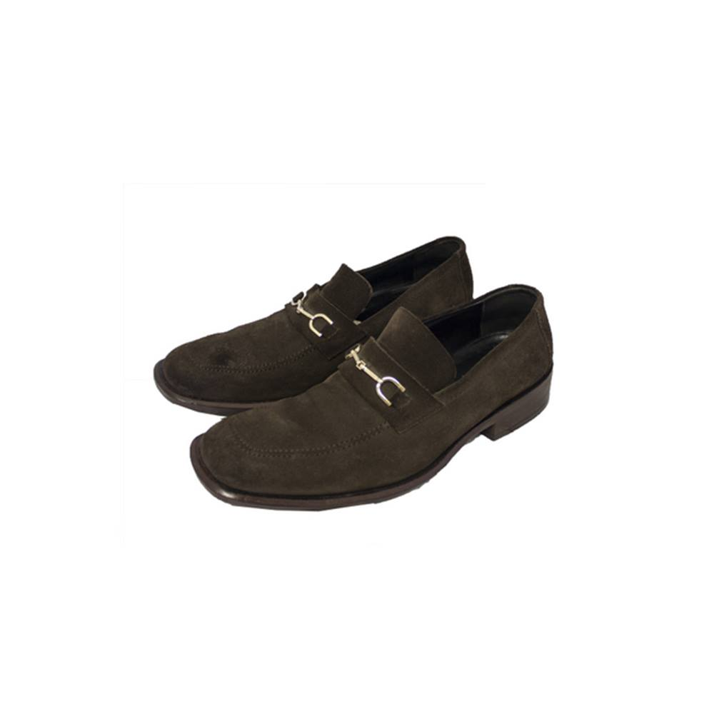d62934997 Gucci Men's Brown Suede Horsebit Loafers Gucci - Size: 10 - Brown - Loafers.  Loading zoom