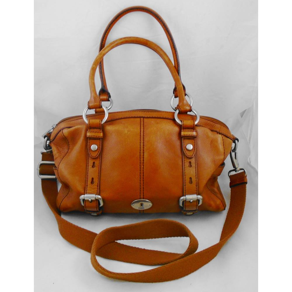0592c7eee233c1 Fossil tan leather bag | Oxfam GB | Oxfam's Online Shop
