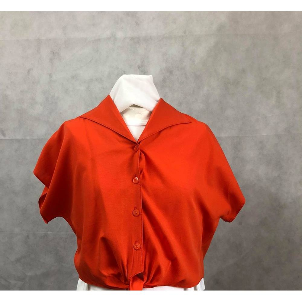 2d49856730123b vintage cropped orange blouse - size 16 Dorothy Perkins - Size: 16 - Orange  -