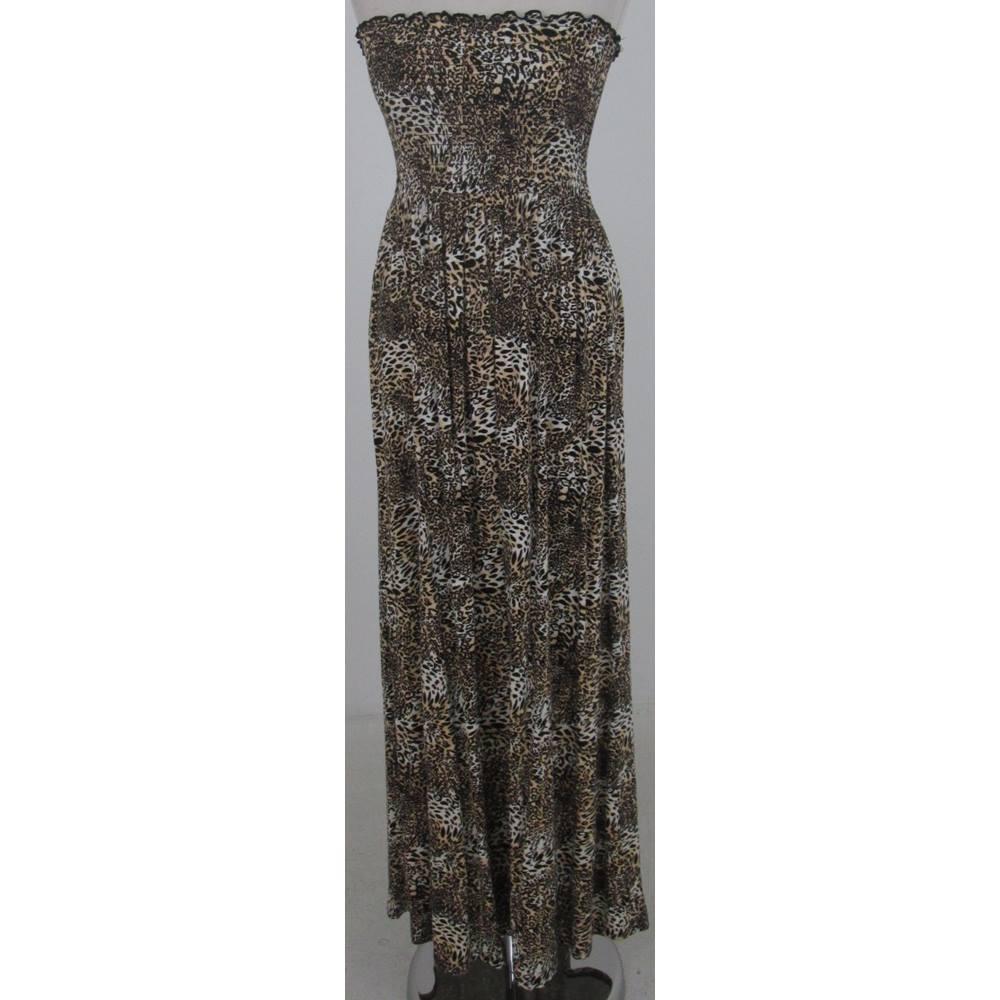 635fb60b5be14 New Look: Size 12: Brown mix animal print maxi dress | Oxfam GB ...