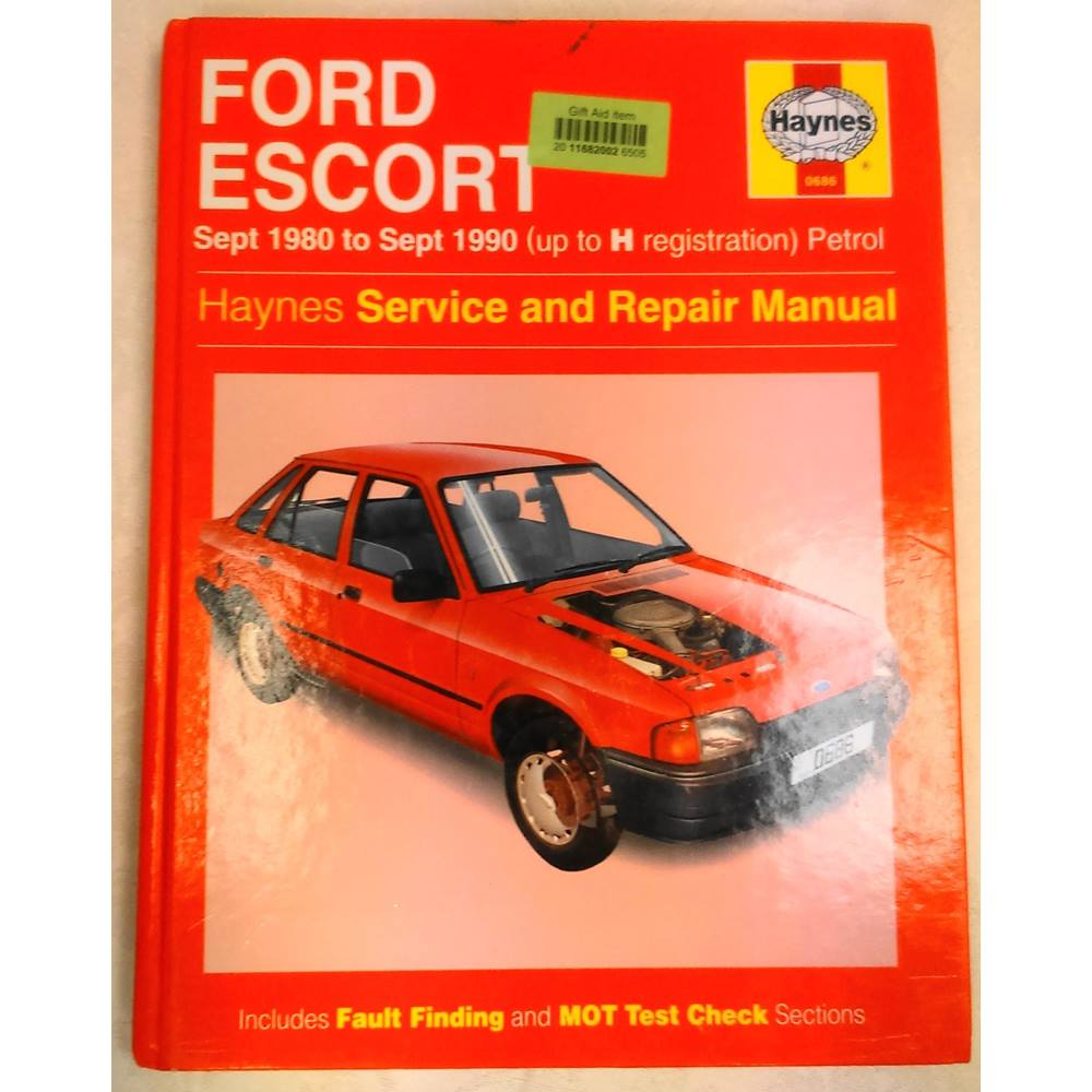 ... Ford Escort - Service and Repair Manual. The book is a hardback. It is  in a great condition but does have some marks and has begun to yellow due  to age.