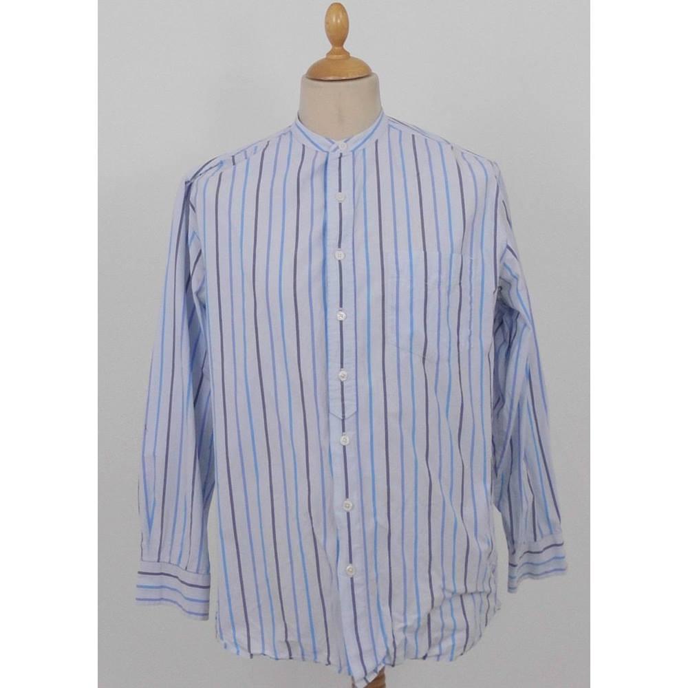 98e68d0d72 Boden Size M Blue & Grey Striped Shirt | Oxfam GB | Oxfam's Online ...