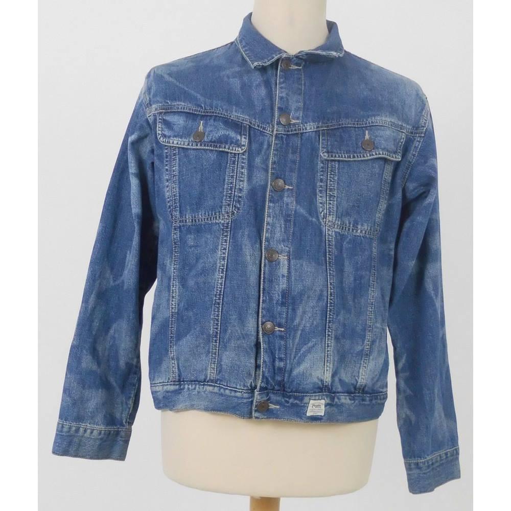 0865d0f258c8a9 Polo By Ralph Lauren Size  XL Blue Tie Dye Effect Denim Jacket ...