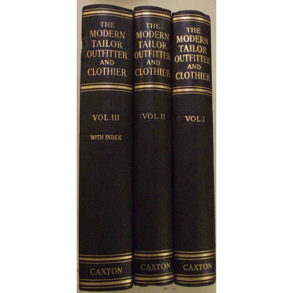 The Modern Tailor Outfitter And Clothier Book Three Volumes 1951 Good Condition