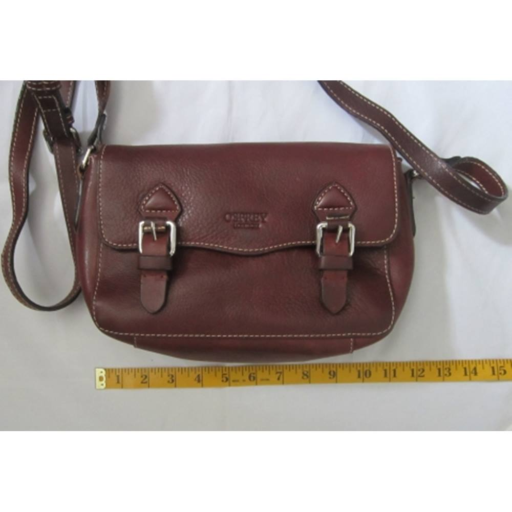 Osprey London Brown Leather Classic Satchel Style Handbag   Oxfam ... 7fc6cf1a75