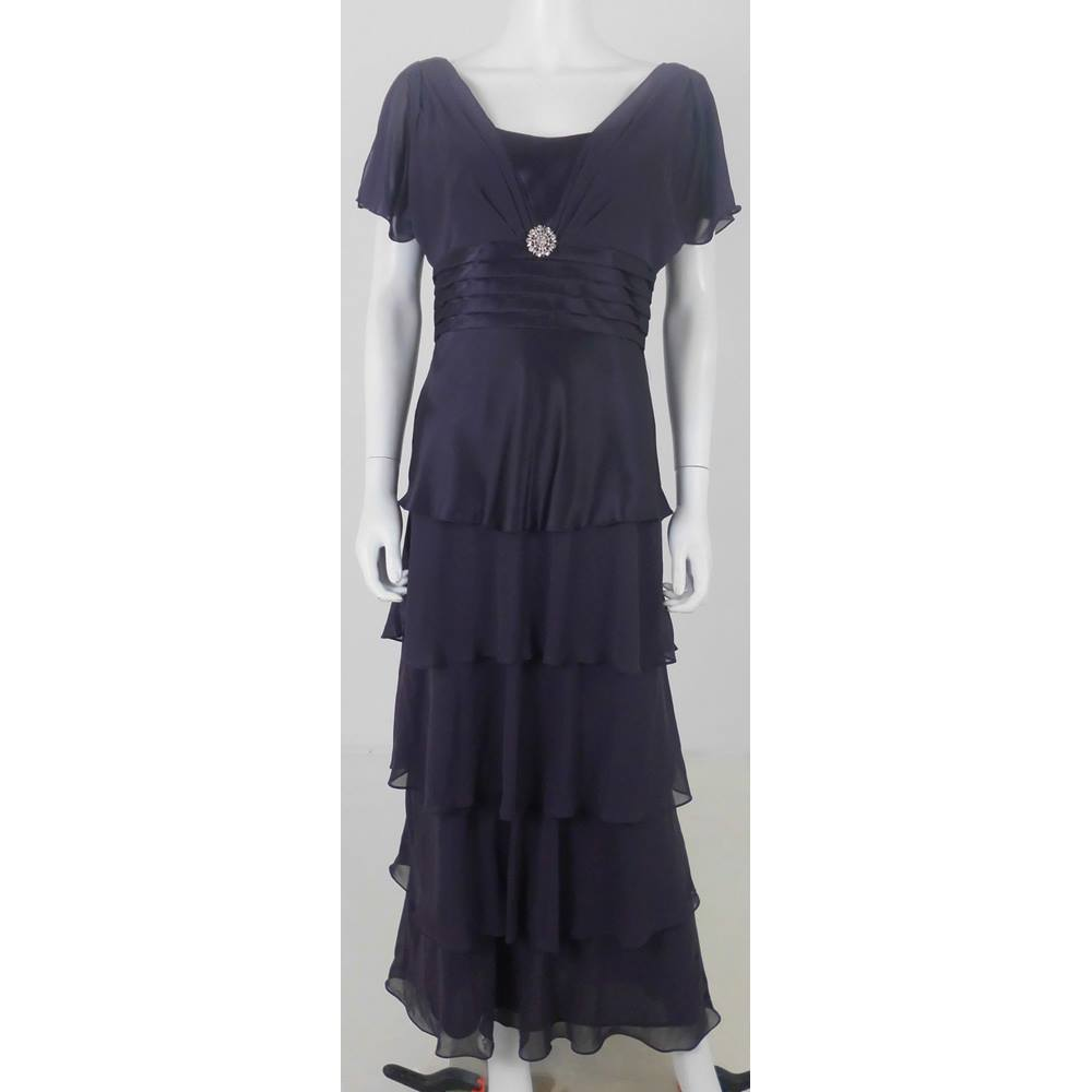Patra Size: 10 Purple Evening Dress | Oxfam GB | Oxfam\'s Online Shop
