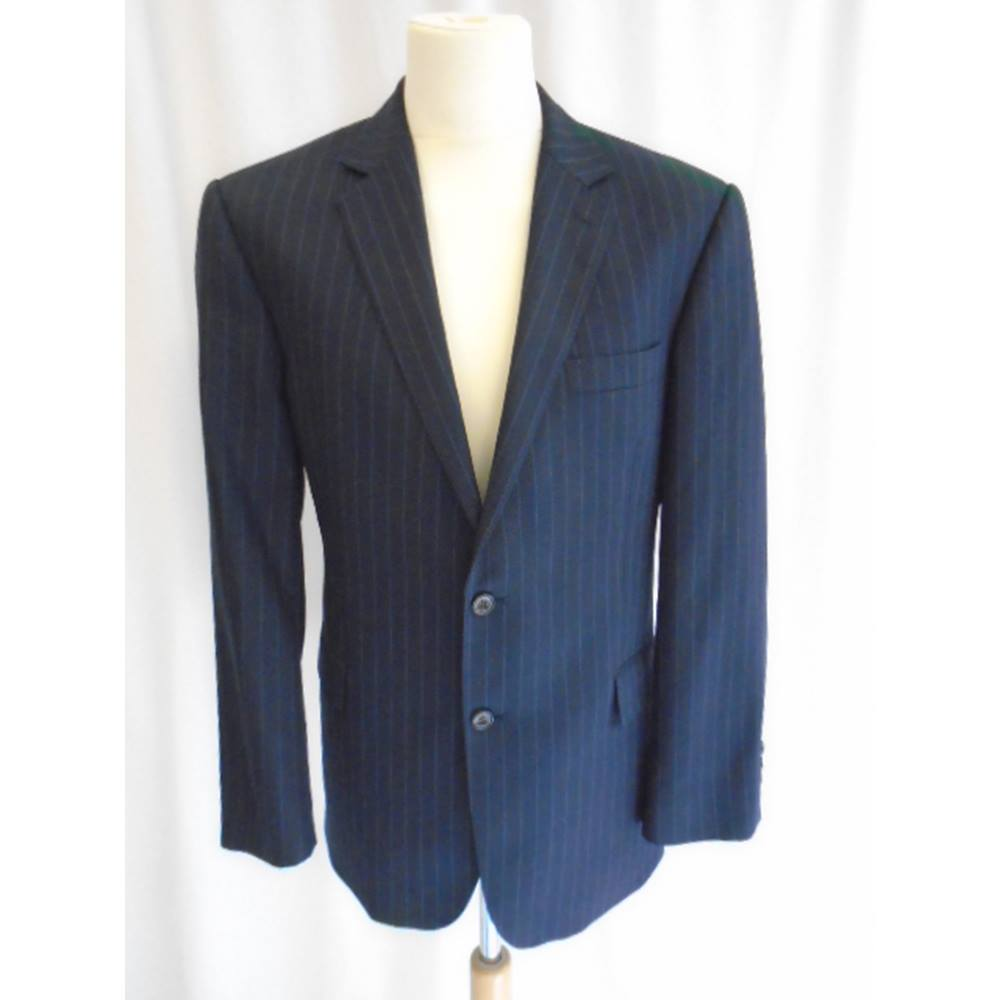 Austin Reed Pinstripe Jacket Navy Blue Size L For Sale In Truro Cornwall Preloved