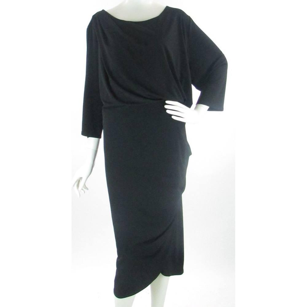 BNWOT - M&S Marks & Spencer - Size: 28 - Black - Wrap around dress ...