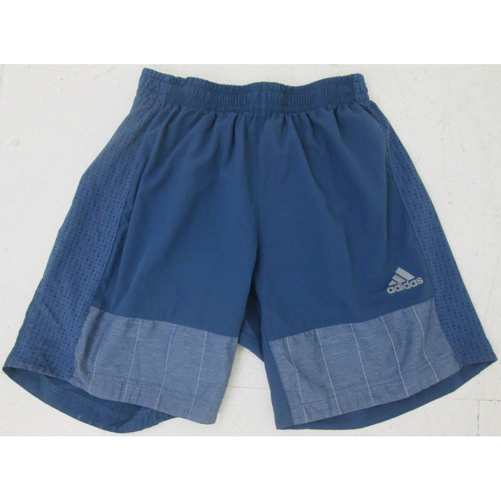 Donated By Simon Pegg Adidas Size M Blue Running Shorts Oxfam