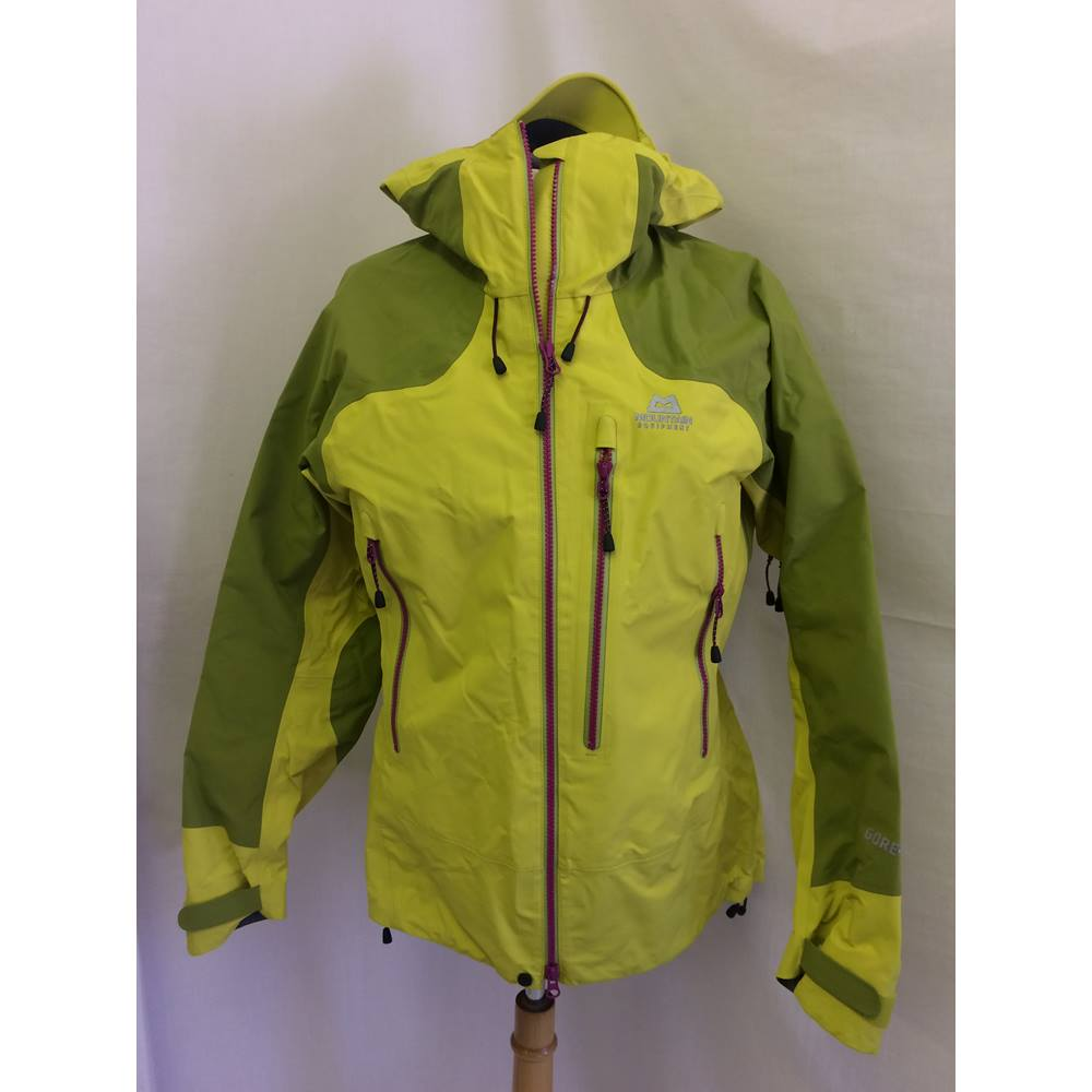 0ab2227d29a5 ... Size  12 - Multi-coloured - Raincoat. Mountain Equipment-UK 12- yellow    green- shell waterproof jacket Mountain Equipment -. Loading zoom