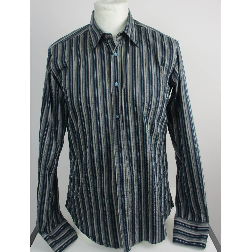 1f18fd599 Ted Baker - Size  L (Ted Baker size 4) blue and grey vertically striped ...