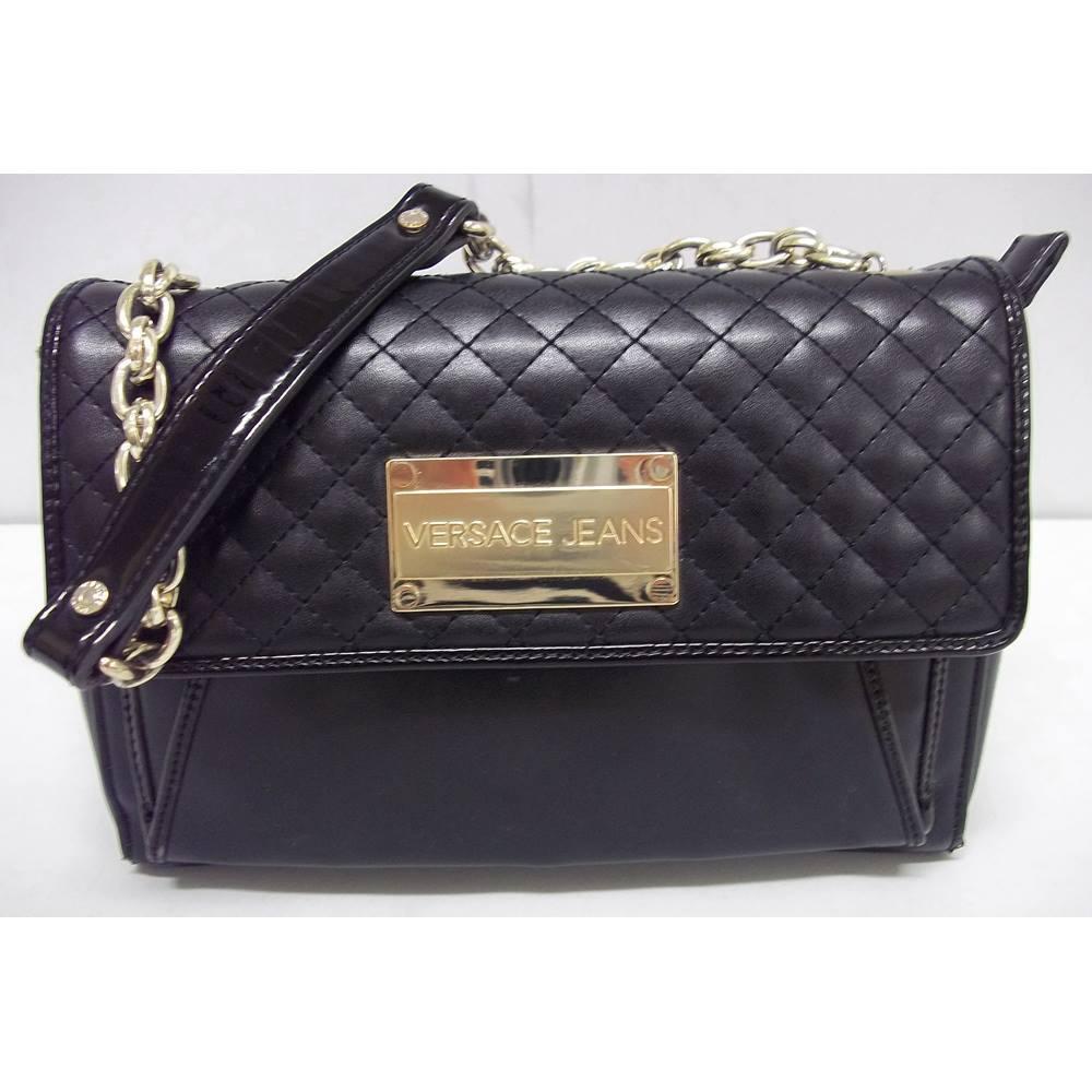 3c1f7dcb3c0f Versace Jeans black handbag clutch